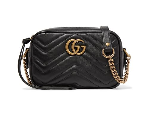 21f478b871e ... 010-GG Marmont Matelasse Bag   Belt £70 p wk  Black leather Gucci  Marmont shulder bag with double G branding to rent at iBagzy ...