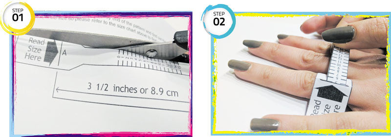 MEASURE YOUR SILICONE RING SIZE - RING SIZING TOOL