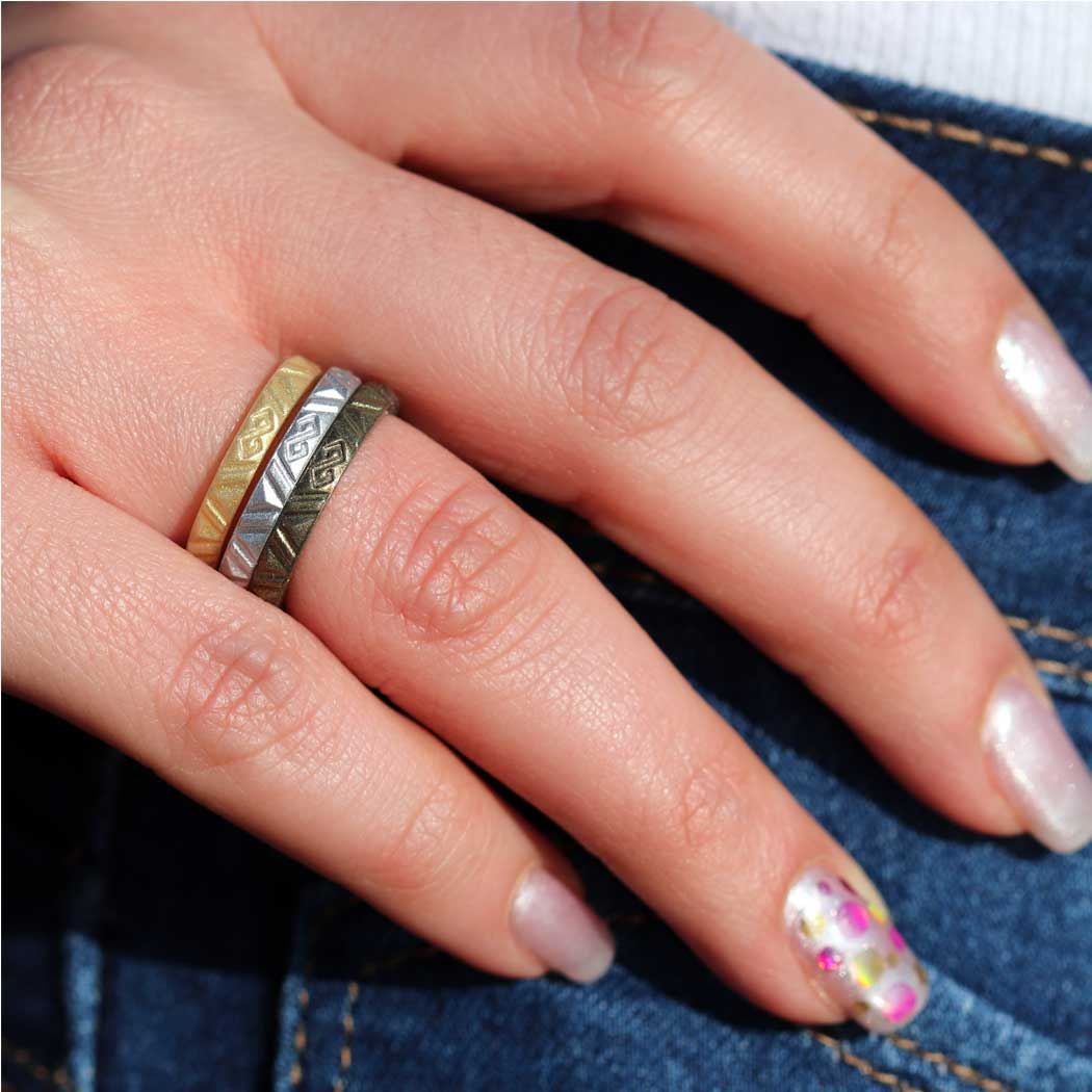 Women S Infinity Silicone Stackable Rings Metallic Colors Comfortabl Rinfit Silicone
