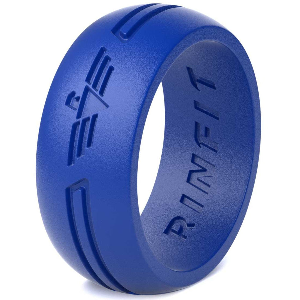 Silicone Ring for Men- Blue - Power Collection