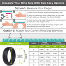 Silicone Ring for Women - Infinity Collection  -Thin 5.5 mm wide - Metal Free, Safe & Comfortable