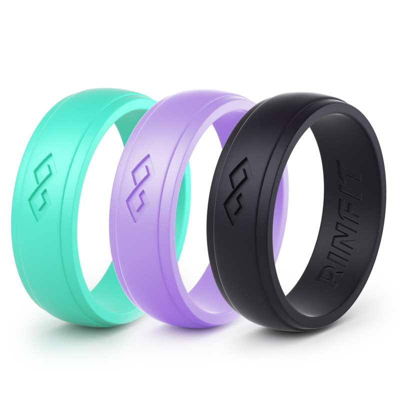 Silicone Wedding Rings For Women 3 Rings Set Infinity Collection