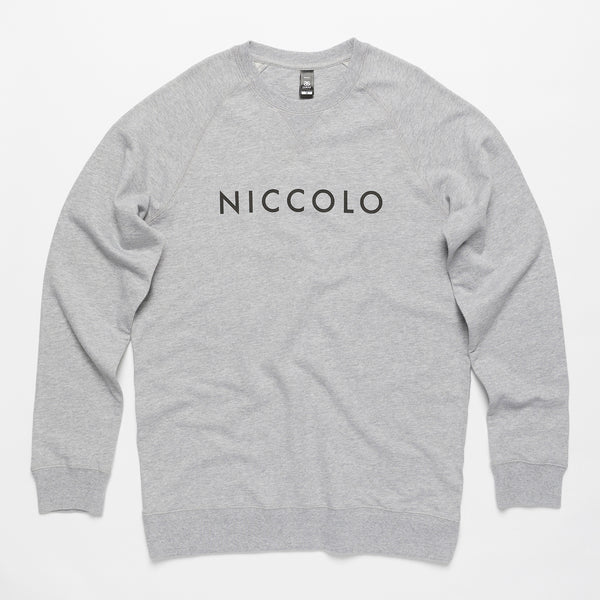 Premium Crew Neck Jumper (Grey/Black)