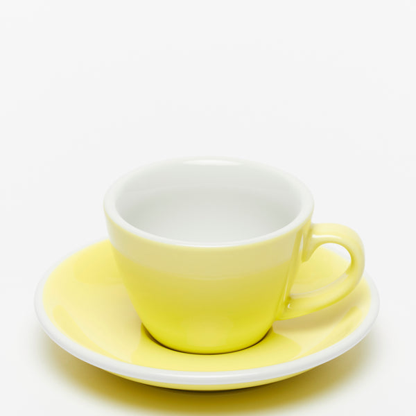 ACME Yellow Flat White Cup & Saucer Set (150ml)