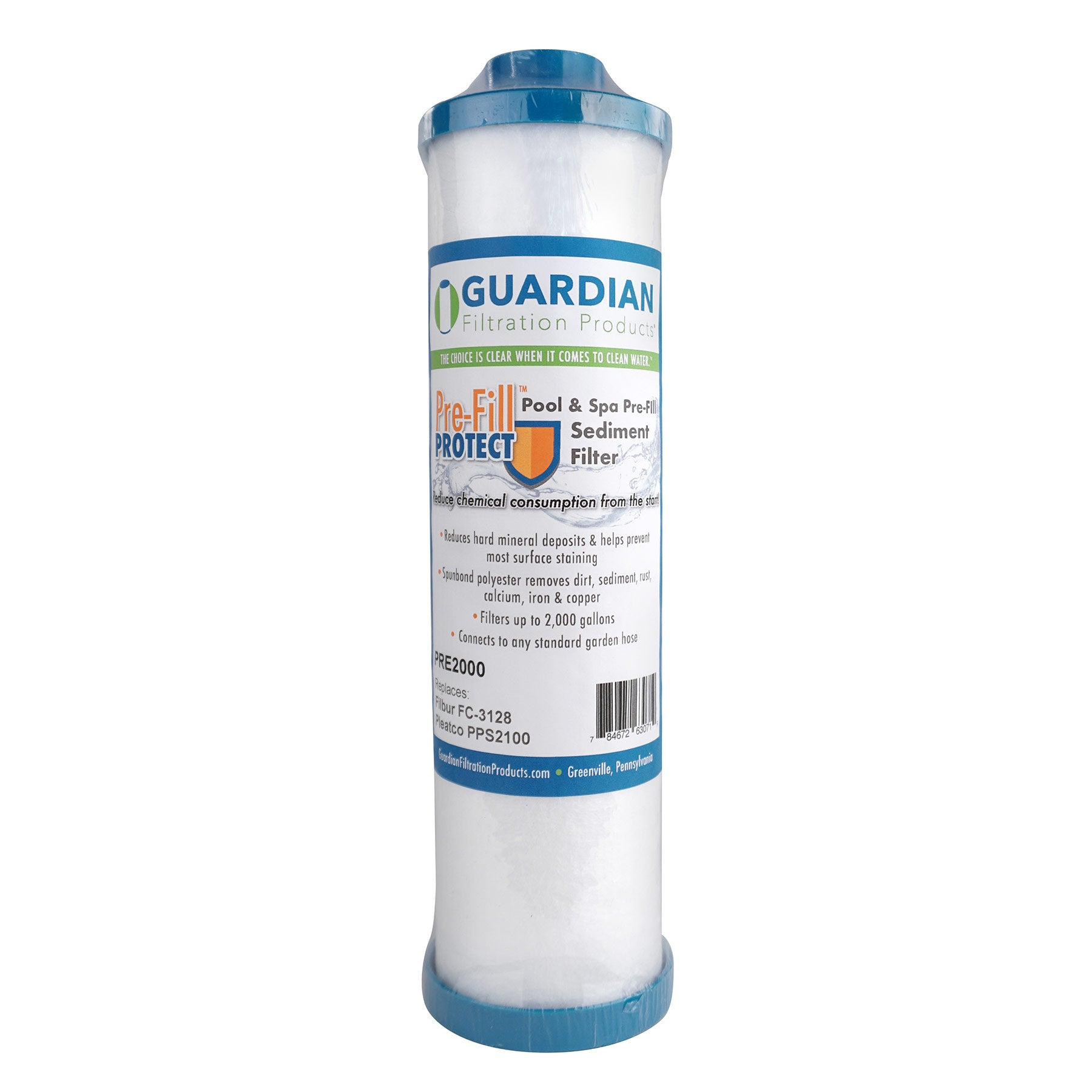 Pre-Fill Protect™ Pool & Spa Pre-Fill Sediment Garden Hose Filter • Replaces Filbur FC-3128, Pleatco PPS2100-Filter Cartridge-FilterDeal.com