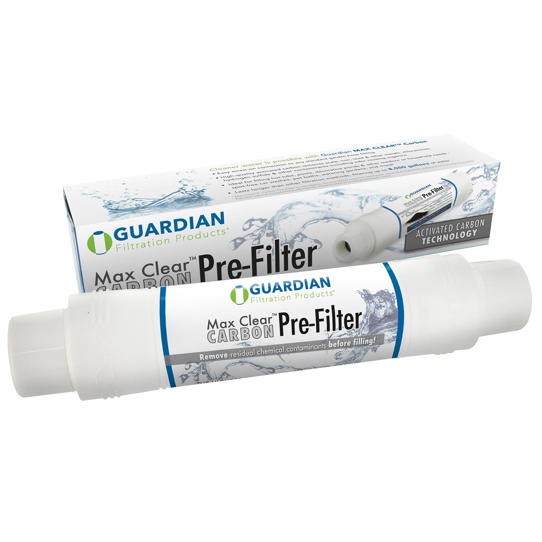 Max Clear™ Carbon Pre Filter U2022 Garden Hose Filter   Fills Pools U0026 Spas