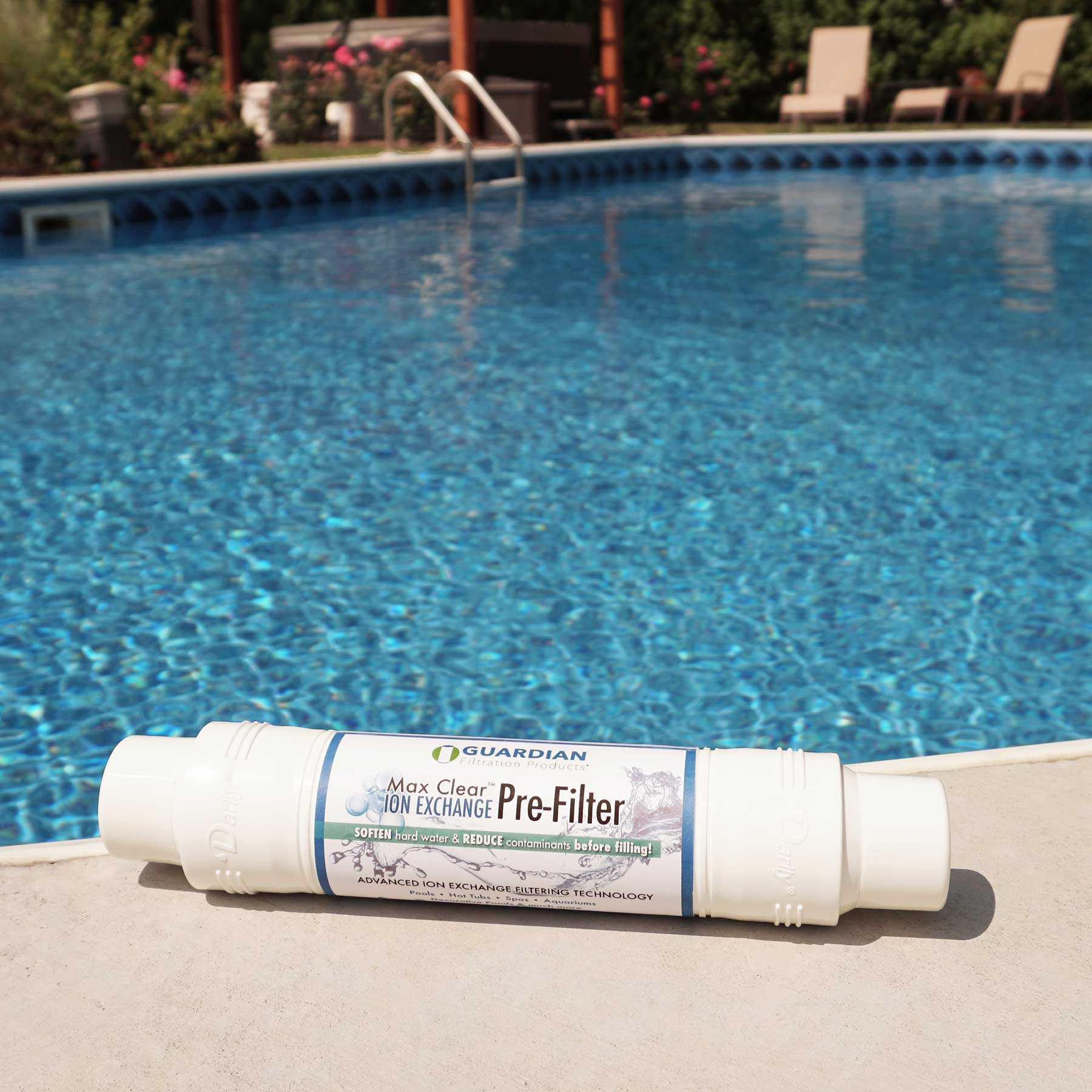 Max Clear Ion Exchange Pre Filter U2022 Garden Hose Filter   Fills Pools U0026 Spas
