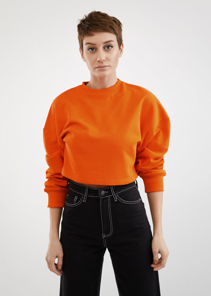 D Block Only / Cropped Sweatshirt