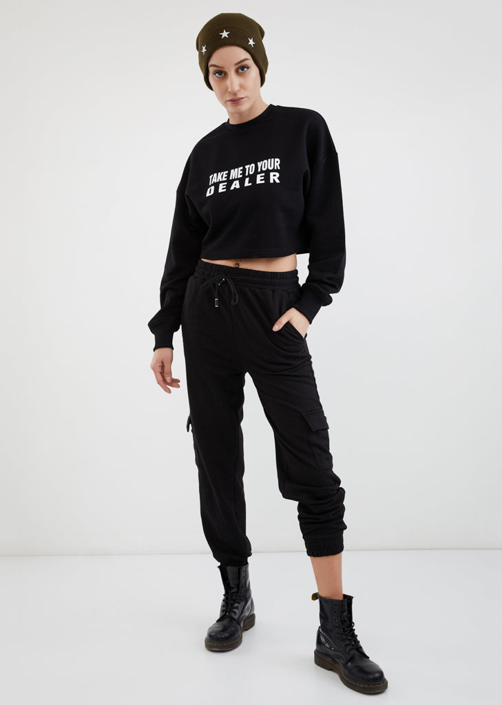 Take Me To Your Dealer / Cropped Sweatshirt