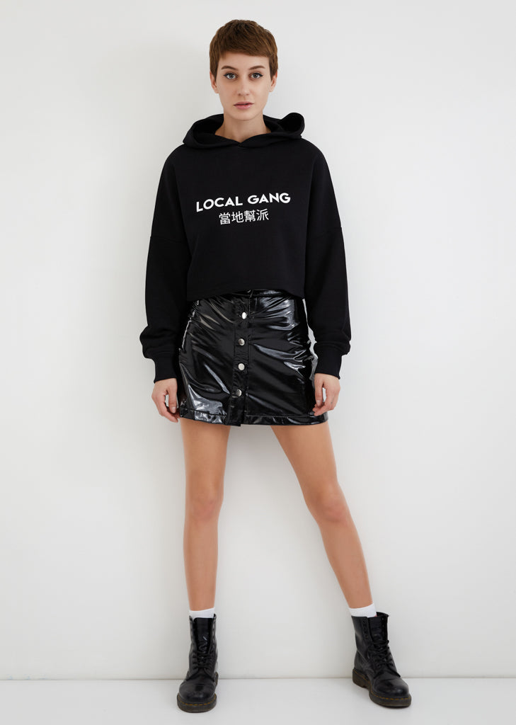 Local Gang / Cropped Hoodie