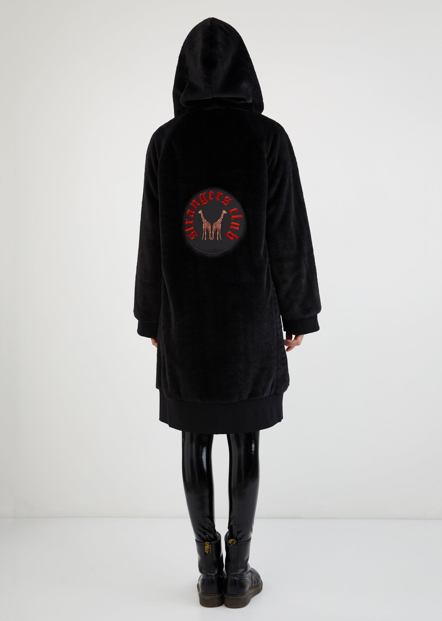 Strangers Club / Faux Fur Zip Up Coat