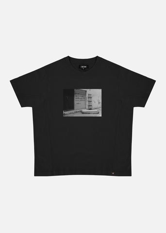 Stop Fucking with People Who Make You Feel Average / Oversize T-shirt (Black)