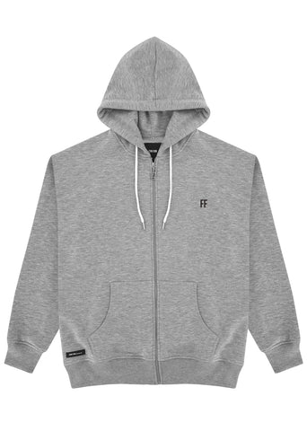 FF / Unisex Zip Up Hoodie (GREY)