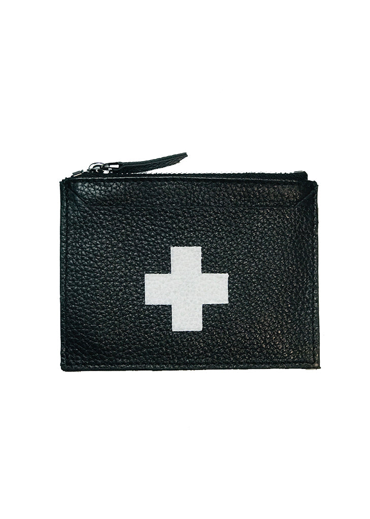 First Aid / Leather Card Holder (black)