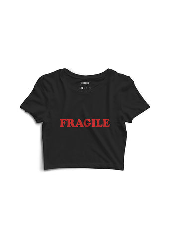 Fragile / Oversized Crop Top