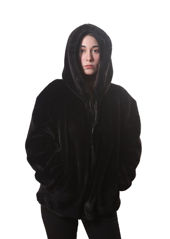 Strangers Club / Faux Fur Zip Up Jacket