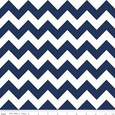 Navy and White Chevron Basic TWIN Trolley Seat Cover