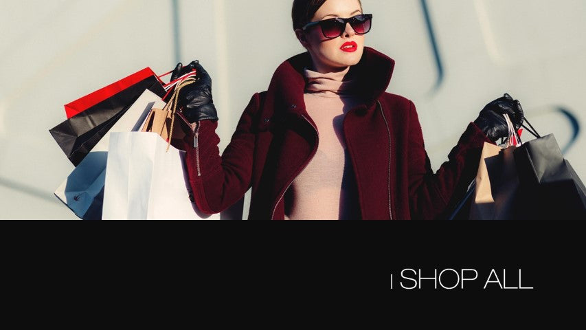 Lady shopping with bags for fashion clothing