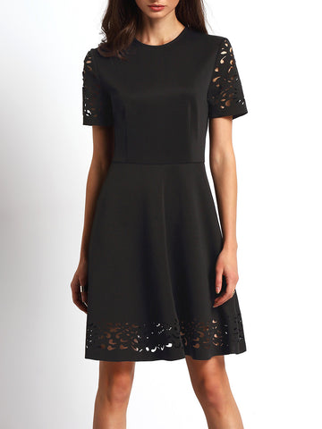 Black Laser Dress,Dresses - KassKo