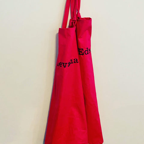 Pink Apron With Personalised Name (More colours available)