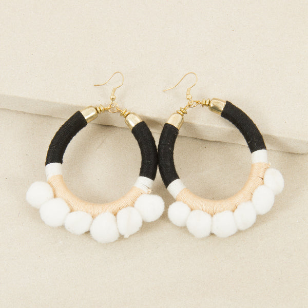 Felt Pom Pom Earrings,Jewellery - KassKo