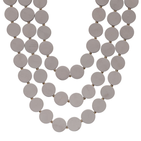 Brighton Triple Necklace - Grey