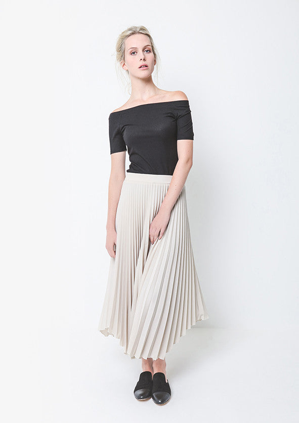 Amelia Skirt - Sand,Bottoms - KassKo