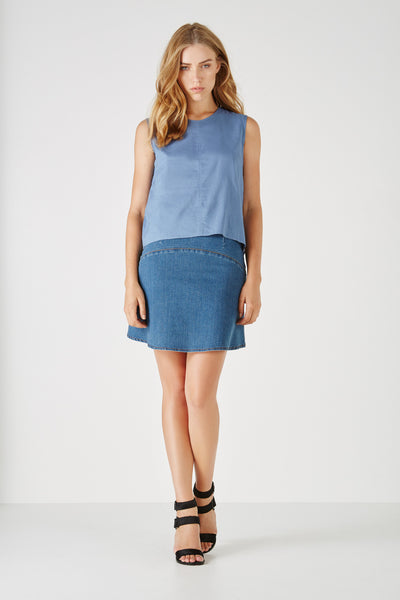 Denim Skirt,Bottoms - KassKo