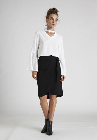 Paige Wrap Skirt,Bottoms - KassKo