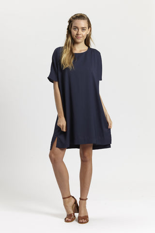 Ashley Dress - Navy,Dresses - KassKo