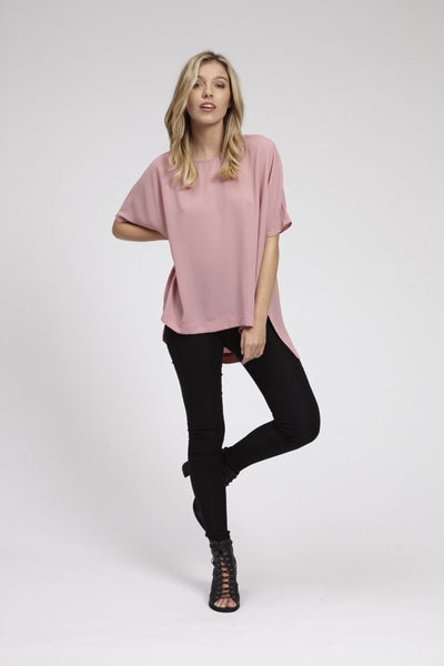 Ashley Top - Pink,Shirts - KassKo