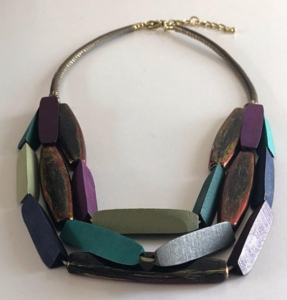 Forest Necklace Multi Colour,Jewellery - KassKo