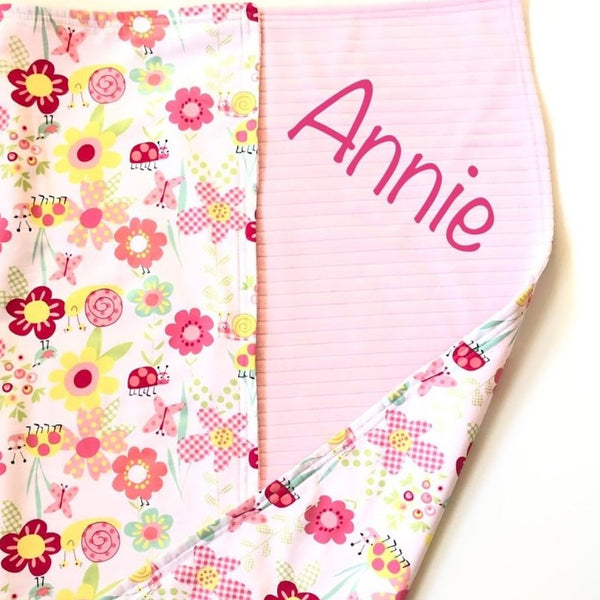 Baby Blanket 90cm x 90cm With Personalised Name (More colours coming soon)