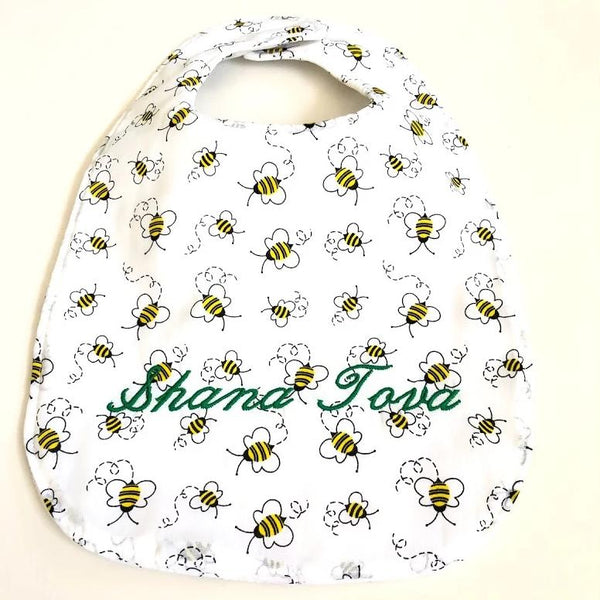 New Year Bee Baby Bib