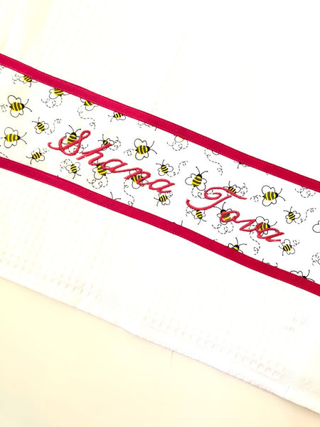 New Year Bee Waffle Tea Towel
