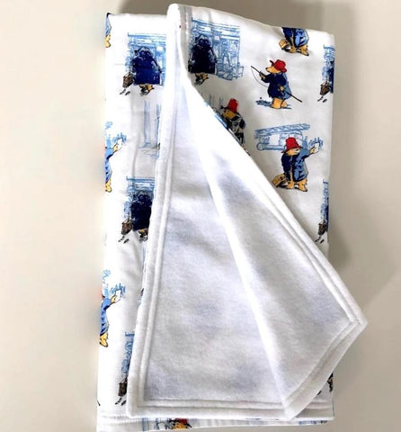 Baby Blanket 90cm x 90cm With Personalised Name - Paddington