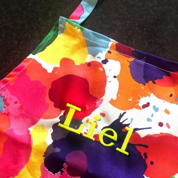 Ink Splotch Apron With Personalised Name (More colours available)