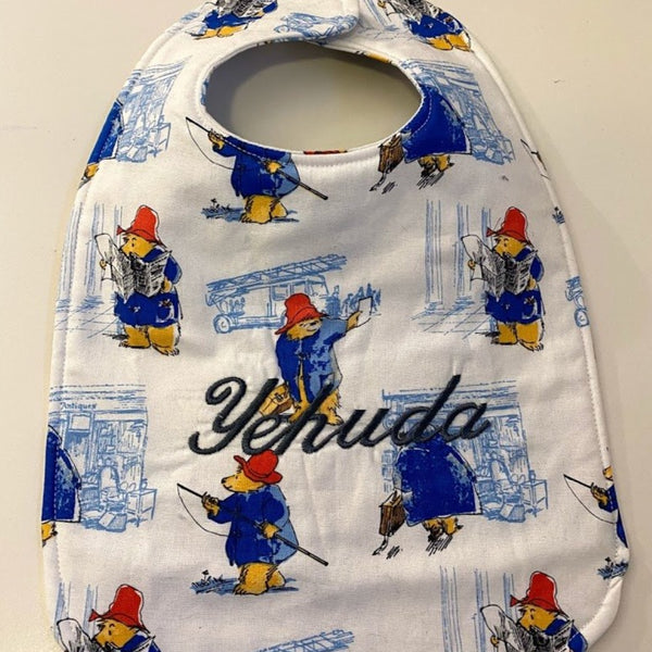 Paddington Embroidered Baby Bib