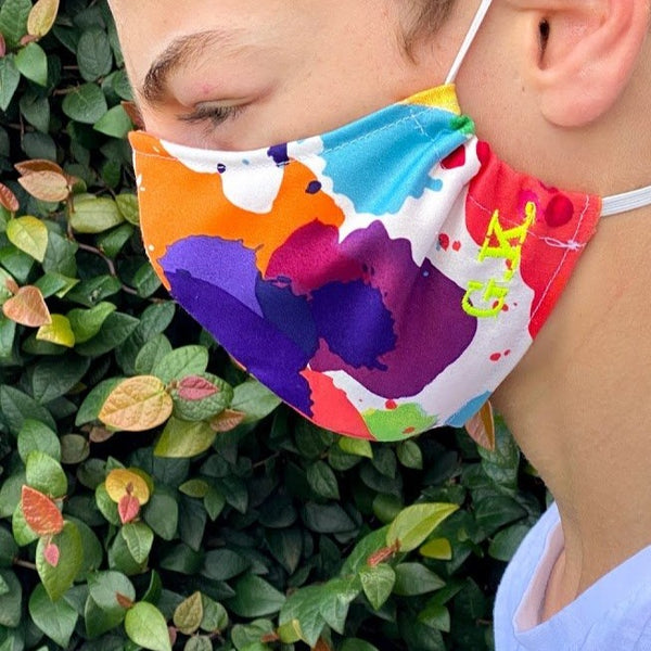 Denim Fabric Fashion Face Mask With Personalised Option (More colours available)