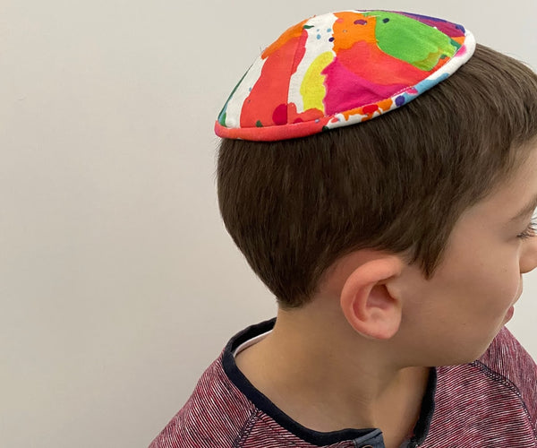 Ink splotch kippah / yarmulke (More colours available)