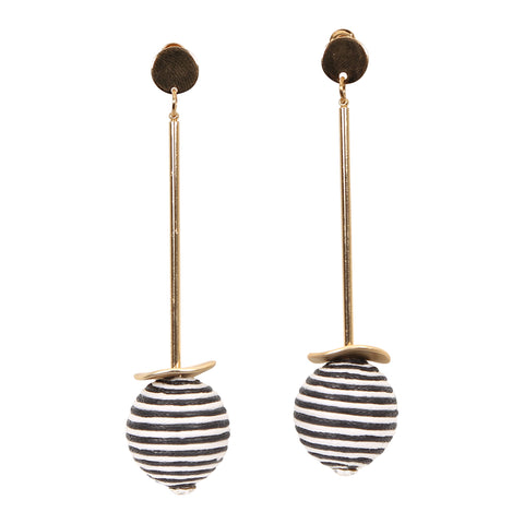 Nautical Bauble Gold Drop Earrings,Jewellery - KassKo