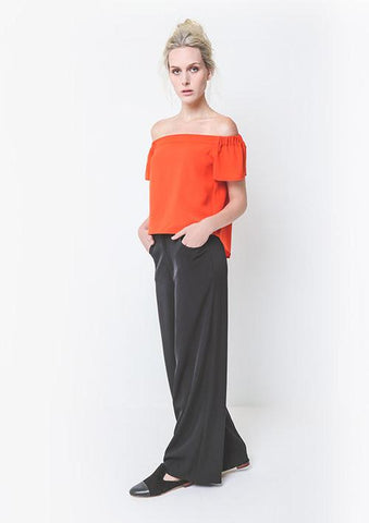 Alyce Off The Shoulder Top - Coral,Tops - KassKo