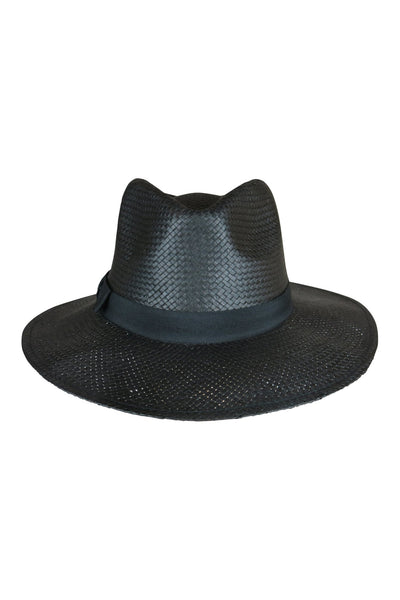 Black Fedora Hat With Black Trim