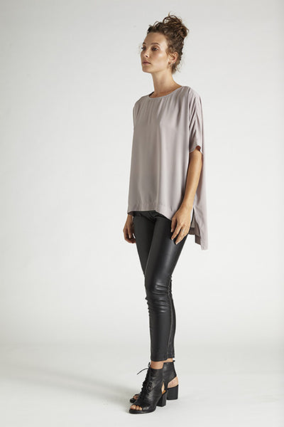 Ashley Top - Grey,Shirts - KassKo