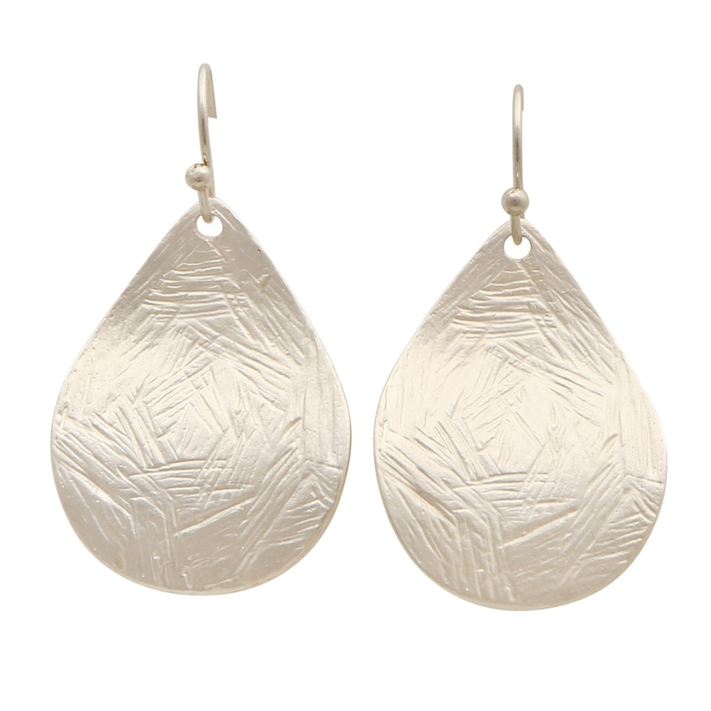 Silver leaf hang down earrings,Jewellery - KassKo