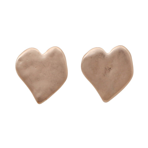 Heart Stud Earring - Rose Gold,Jewellery - KassKo