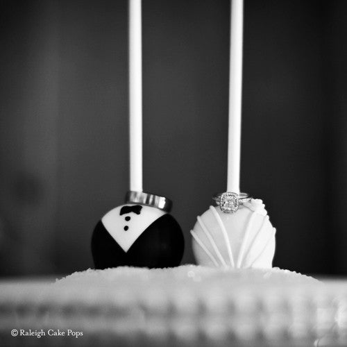 Bride And Groom Cake Pops 12pc