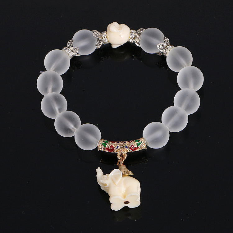 social stone animal bead yoga products product bracelet company glass elephant image