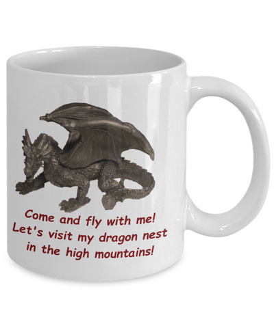 Mug with Peacocks and Dragons