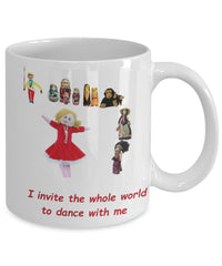 Custom Mug with happy Doll from Estonia